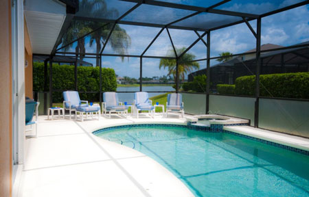 Florida Villa Sunset Retreat Vacation Rental Home 5 Bedrooms With Private Pool Sunset Lakes